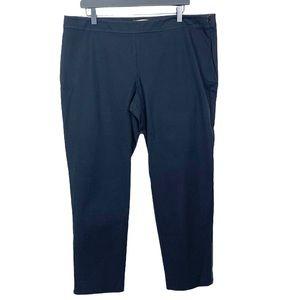 Eileen Fisher Slim Black Zipper Ankle Pants XL